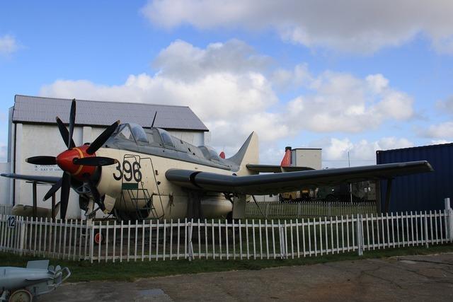 Museum aircraft memorial.