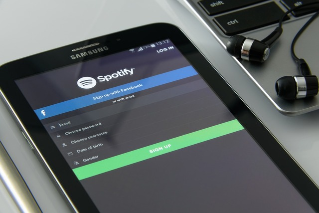 Spotify streaming music, music  - PICRYL Public Domain Image