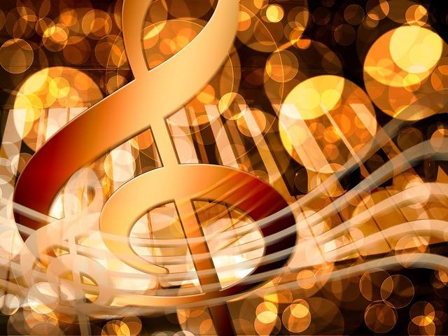 Music piano treble clef, music.