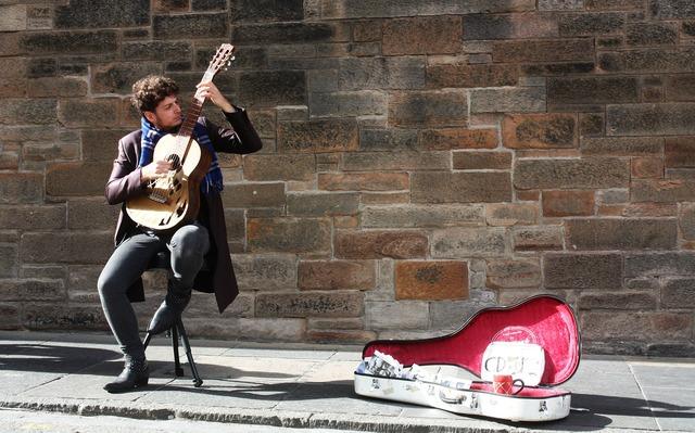 Music street musician guitar, music.