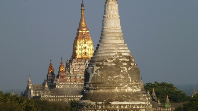 Myanmar bagan temples, architecture buildings.