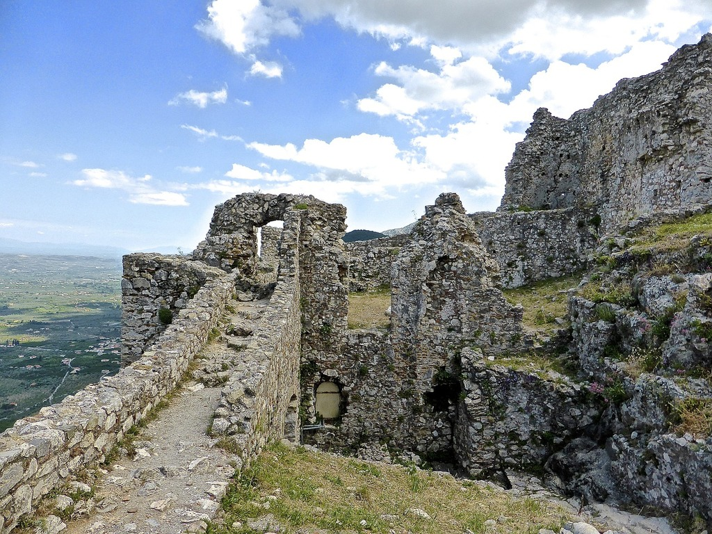 Mystras citadel fortress, places monuments.