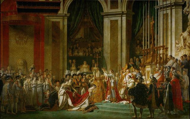 Napoleon oil painting the coronation.