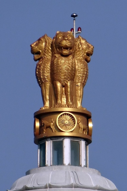 National emblem lion capital ashoka chakra, architecture buildings.