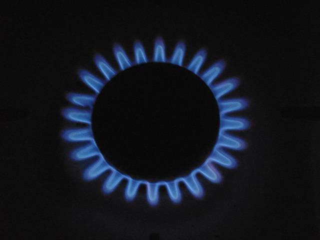 Natural gas burner gas.