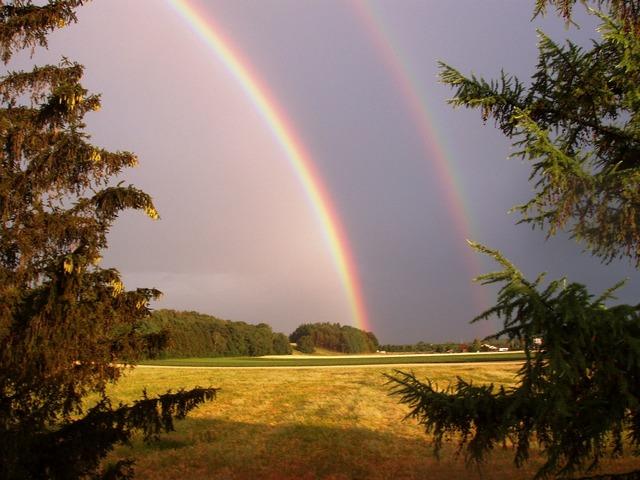 Nature rainbow double rainbow, nature landscapes.
