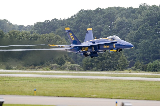 Navy blue angels airshow aircraft.