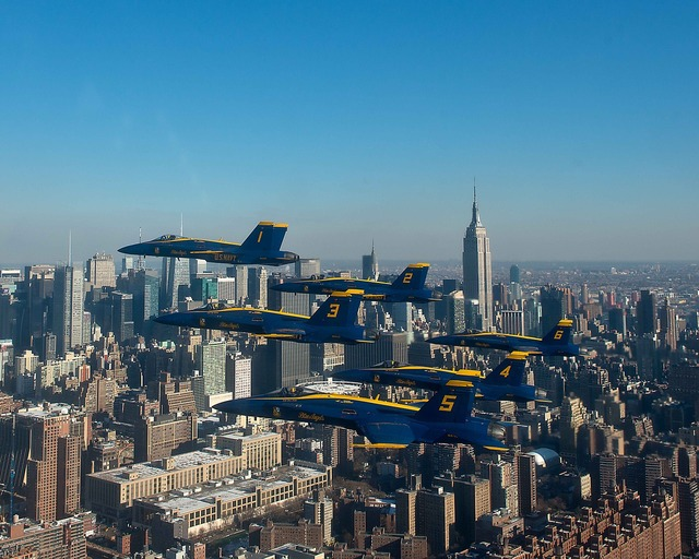 Navy blue angels new york city aircraft.