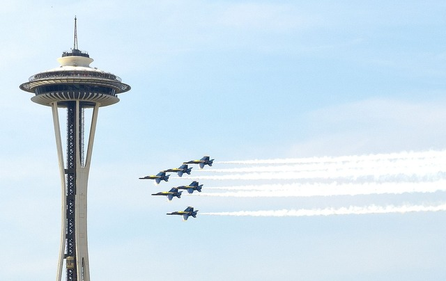 Navy blue angels seattle aircraft.