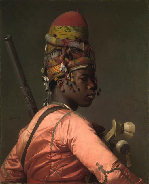 Negress black woman, beauty fashion.