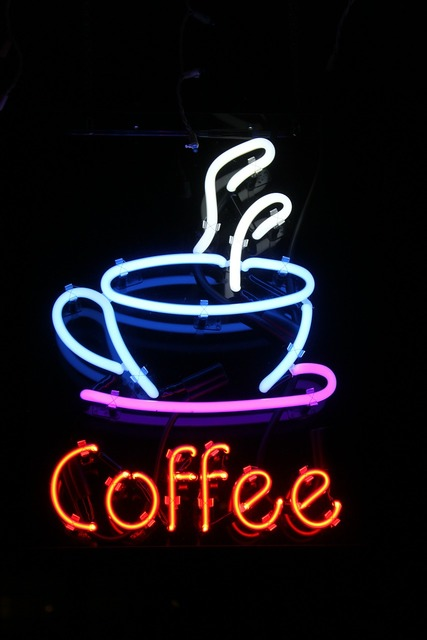 Neon coffee sign.