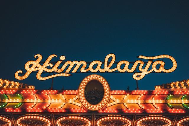 Neon sign himalaya writing.