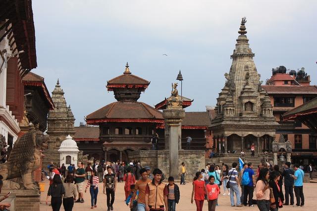 Nepal bhaktapur unesco, architecture buildings.