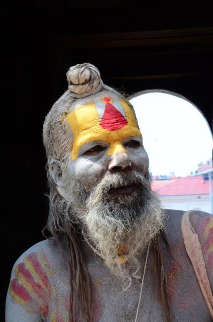 Nepal holy man, religion.