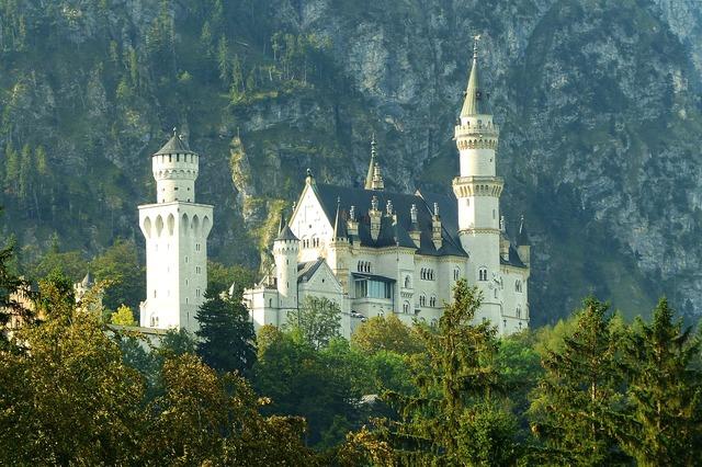 Neuschwanstein castle morning light kristin, architecture buildings.