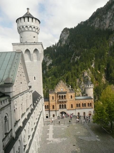 Neuschwanstein castle tower fairy castle.