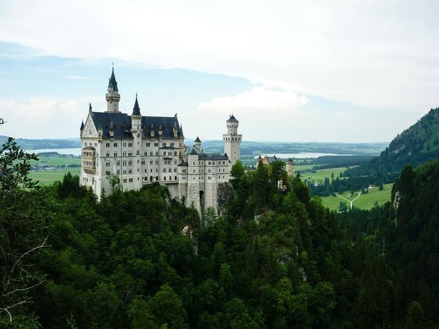 Neuschwanstein palace bavaria, nature landscapes.