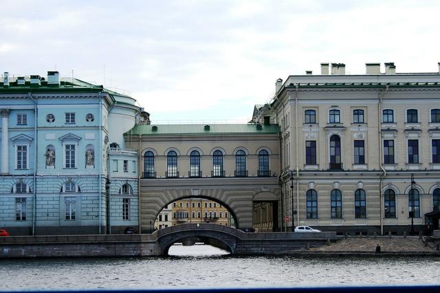 Neva river adjoined buildings.