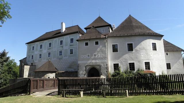 New castle nove hrady south bohemia, architecture buildings.