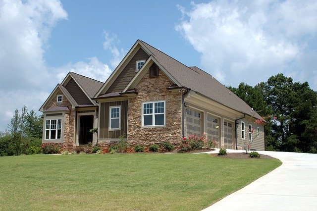 New home construction, architecture buildings.