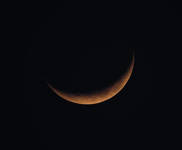 New moon moon sky.