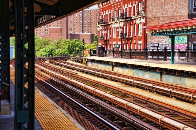 New york 207st metro, architecture buildings.