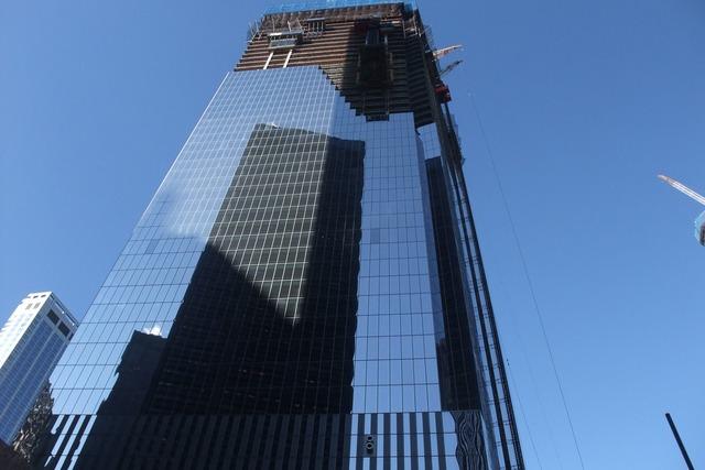 New york building blue sky, architecture buildings.