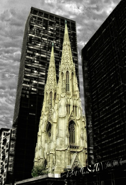 New york church ivory carving, religion.