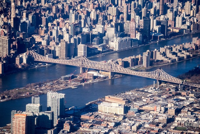 New york city aerial photography bridge, architecture buildings.