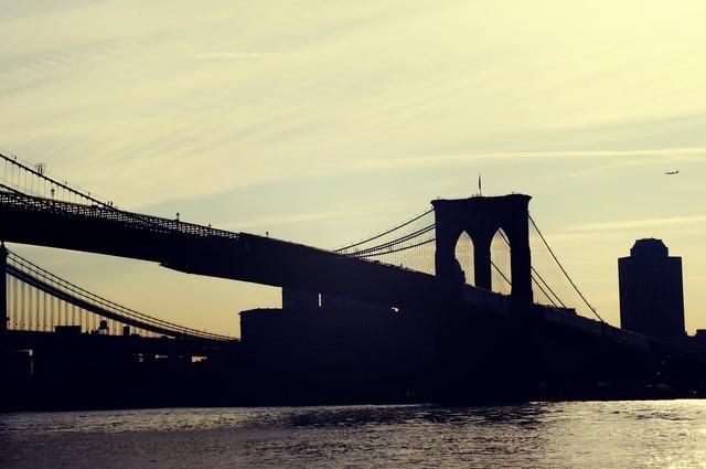 New york city brooklyn bridge new york.