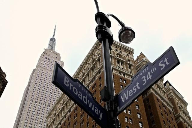 New york city manhattan 34th street, travel vacation.