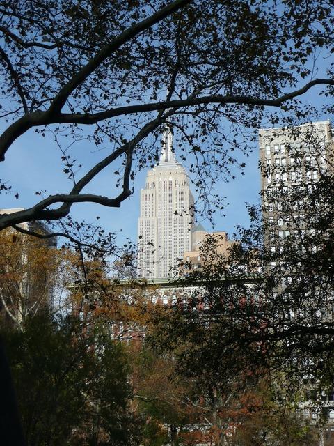New york empire state skyscraper.