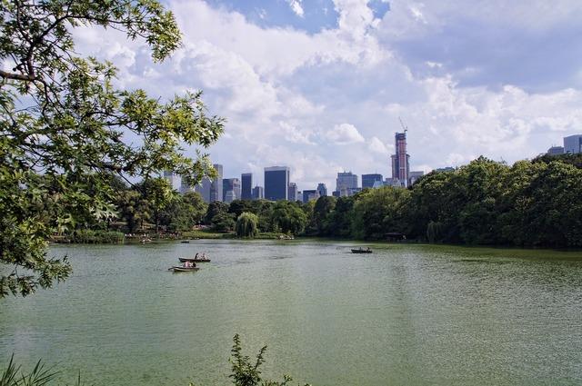 New york manhattan central park, architecture buildings.