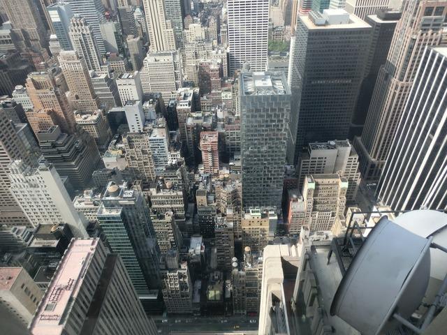 New york street canyons usa.