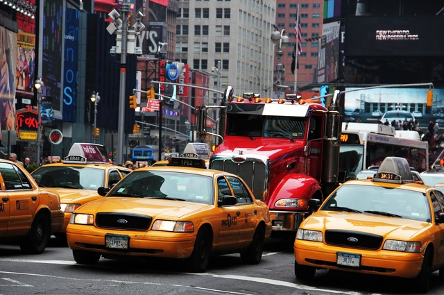 New york times square yellow cabs broadway, transportation traffic.