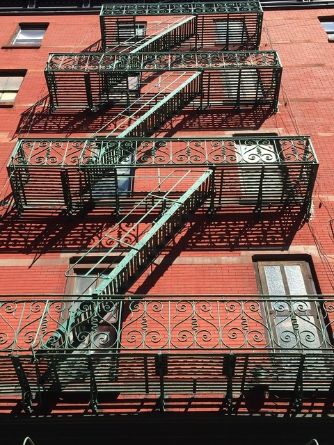 New york usa mulberry street, architecture buildings.