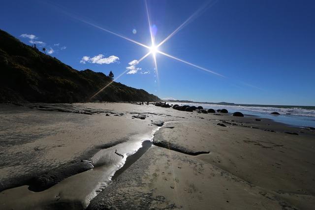 New zealand beach, travel vacation.