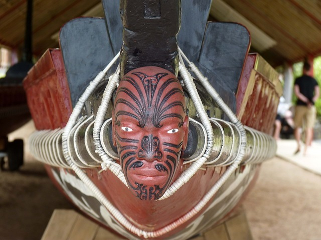 New zealand figurehead maori art.