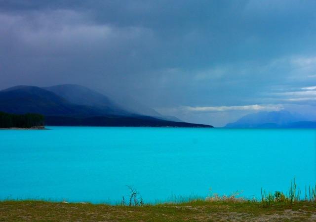 New zealand lake pukaki mountains, nature landscapes.