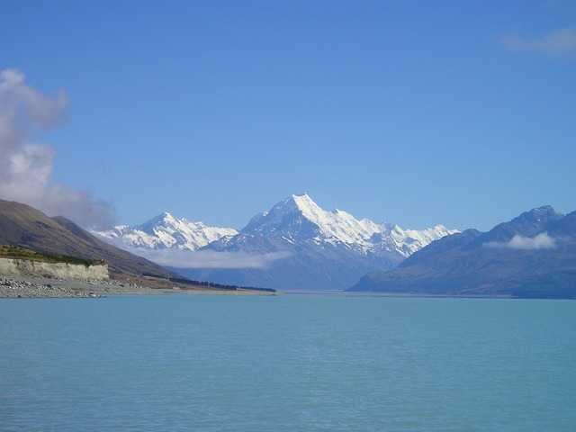 New zealand mount cook aoraki, nature landscapes.