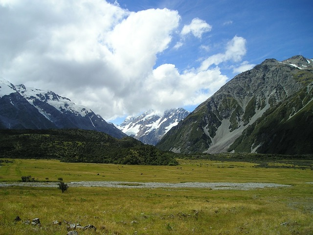New zealand mountain mount cook, nature landscapes.