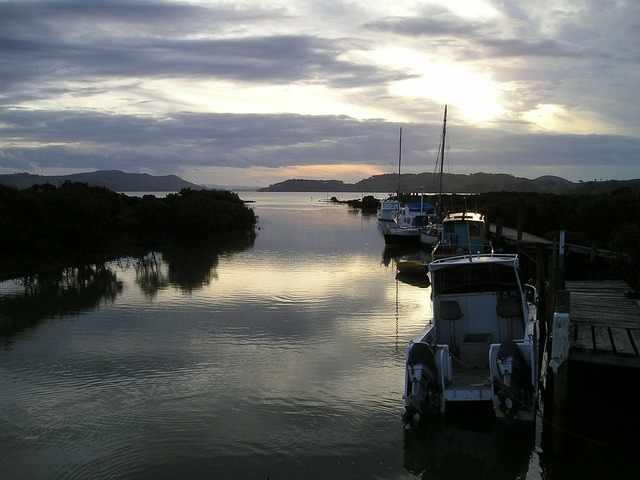 New zealand pier boats.