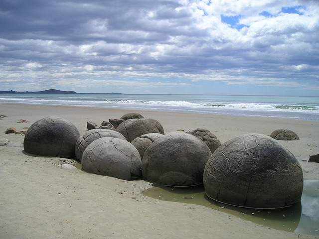 New zealand sea beach, travel vacation.
