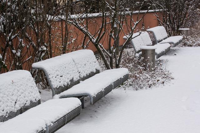 New zealand snow park bench.