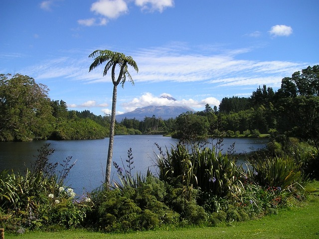 New zealand volcano lake.