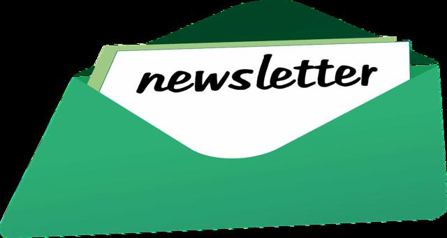 News headlines newsletter, computer communication.