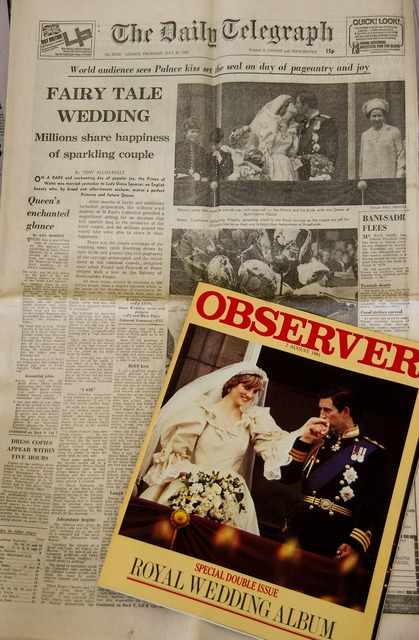 Newspaper historic wedding.