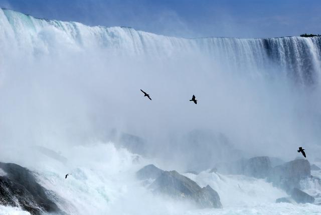 Niagara falls waterfall, travel vacation.