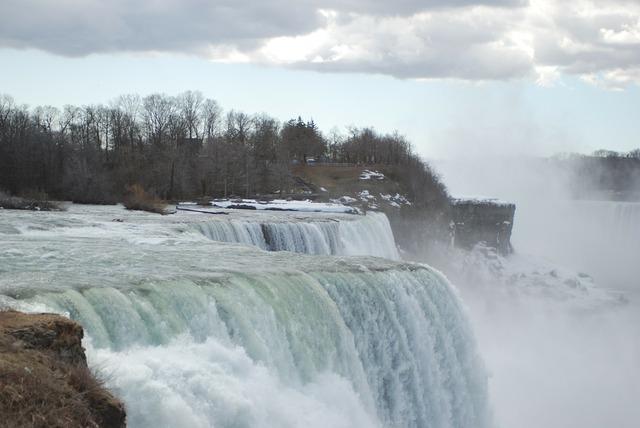 Niagara water falls scenery, travel vacation.