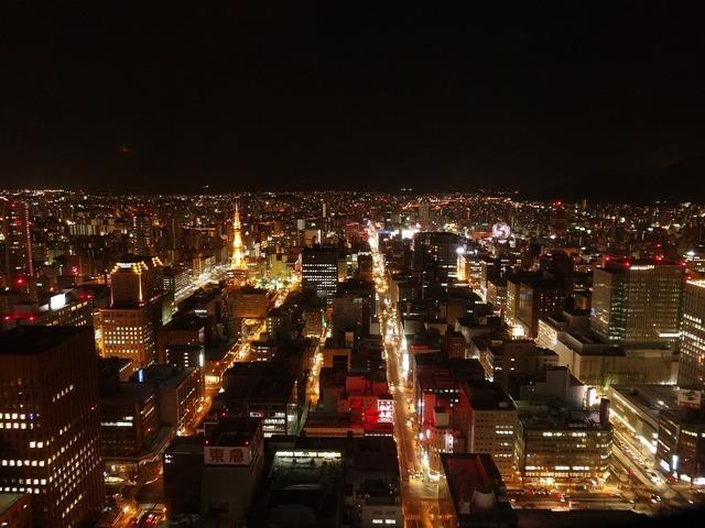 Night view night japan, architecture buildings.